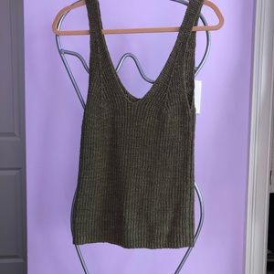 MADEWELL olive green sweater tank